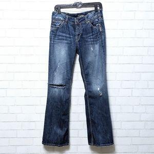 Silver Suki Surplus Bootcut Distressed Jeans 31x32